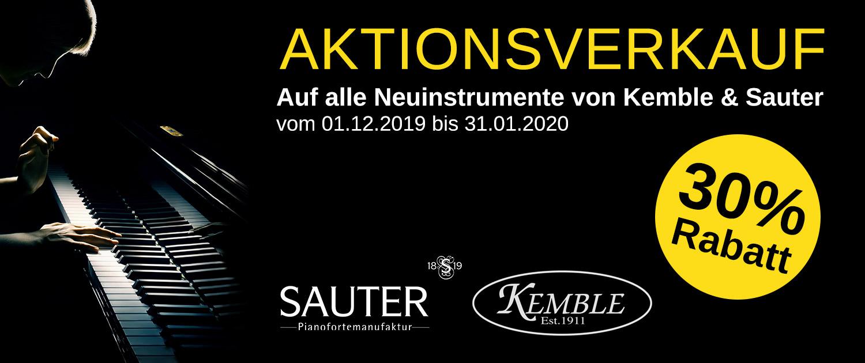 Aktionsverkauf Kemble & Sauter Klavier 2019 Schorndorf